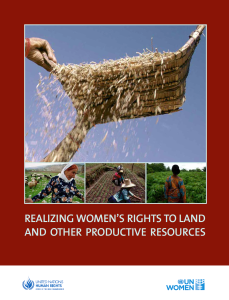 Women's right to land